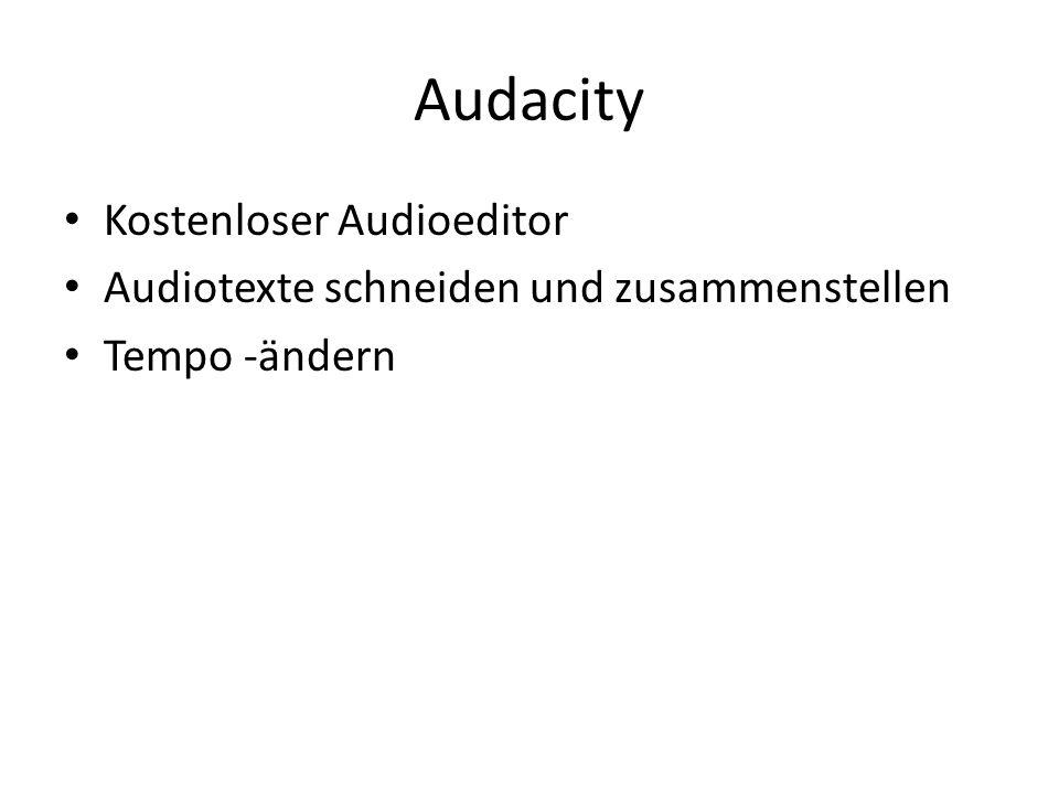 Audacity Kostenloser Audioeditor