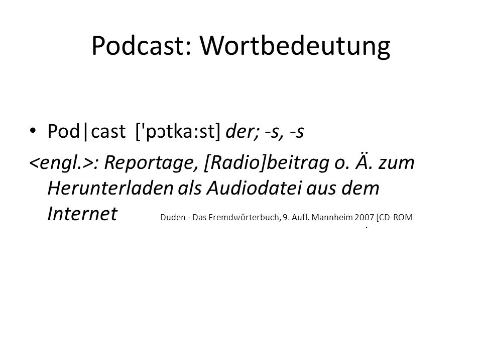 Podcast: Wortbedeutung
