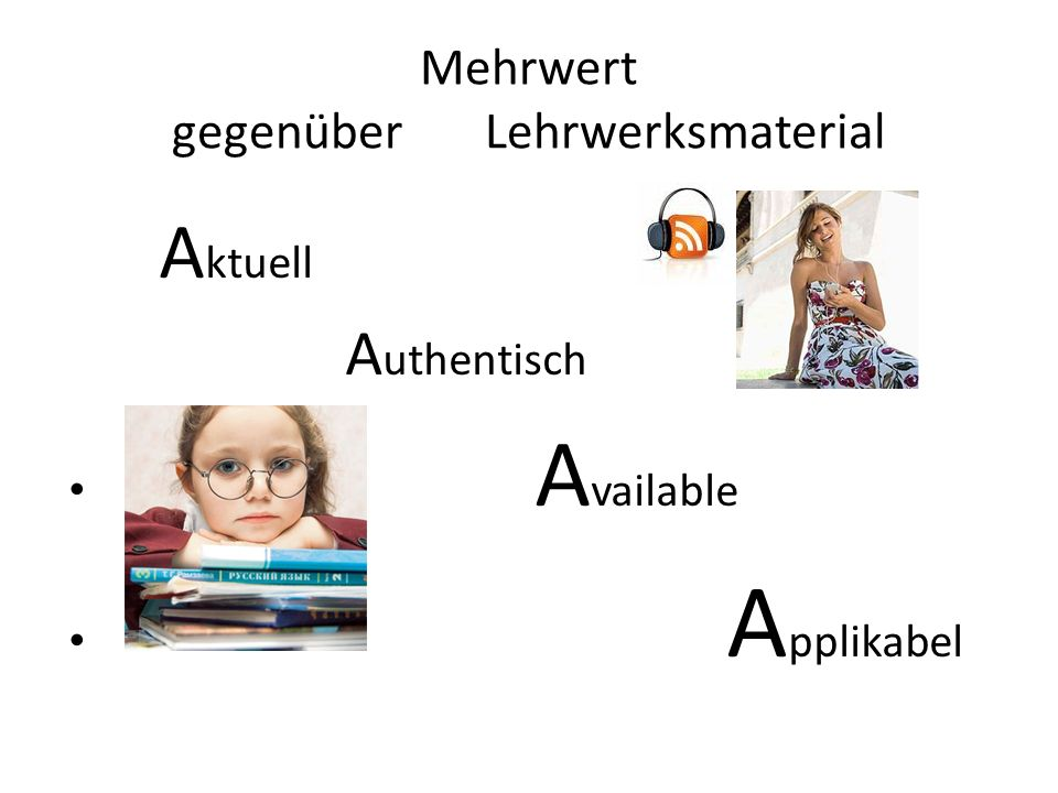 Mehrwert gegenüber Lehrwerksmaterial