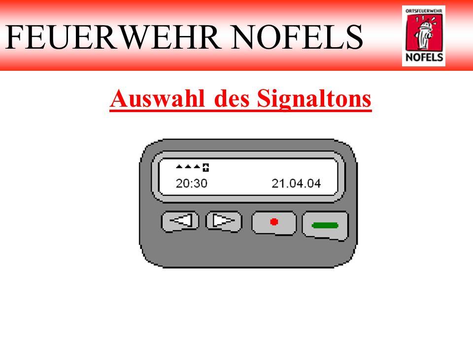 Auswahl des Signaltons