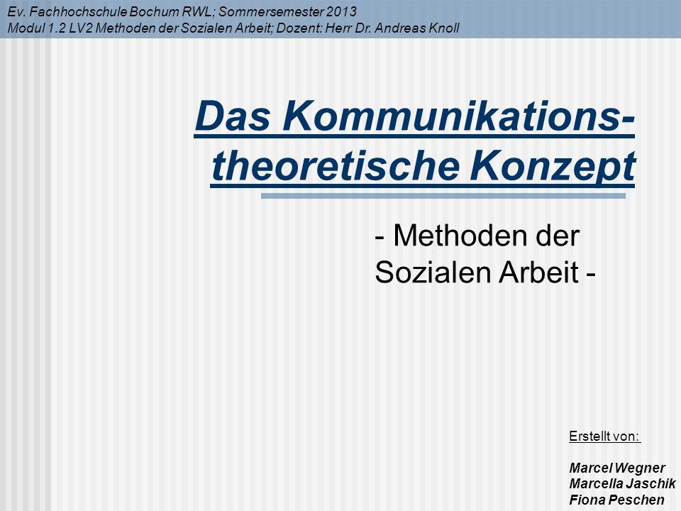 Das Kommunikations-theoretische Konzept