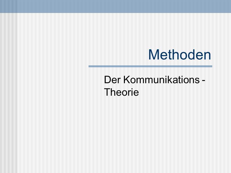 Der Kommunikations - Theorie