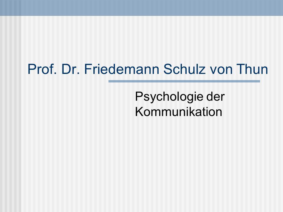 Prof. Dr. Friedemann Schulz von Thun