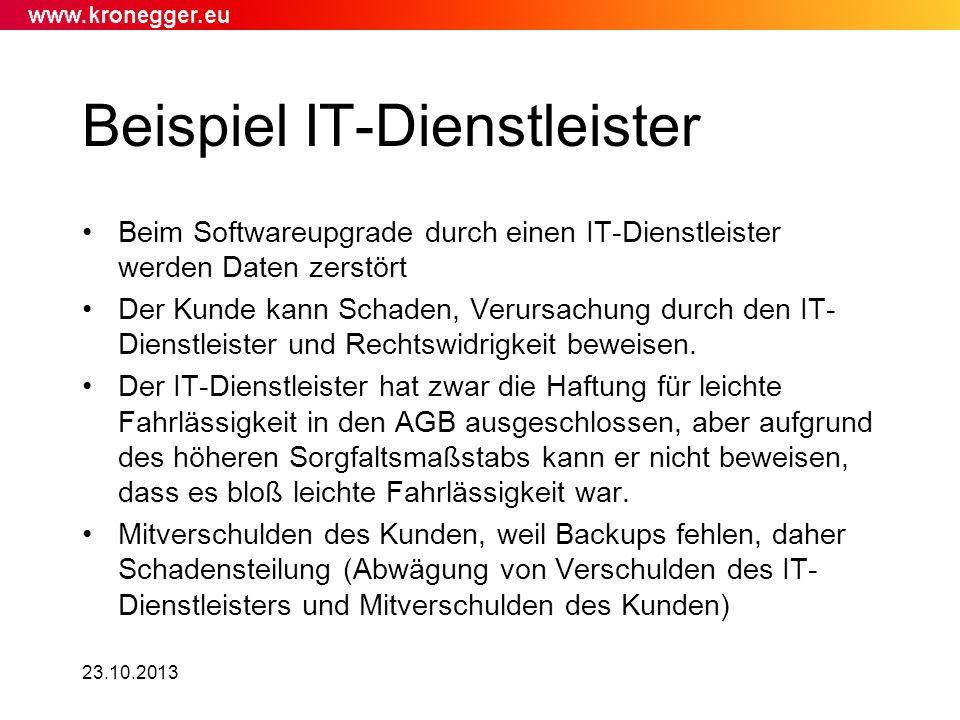Beispiel IT-Dienstleister