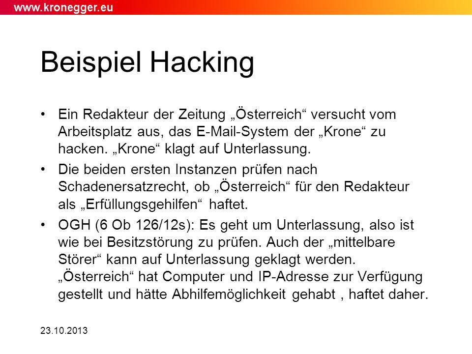 Beispiel Hacking