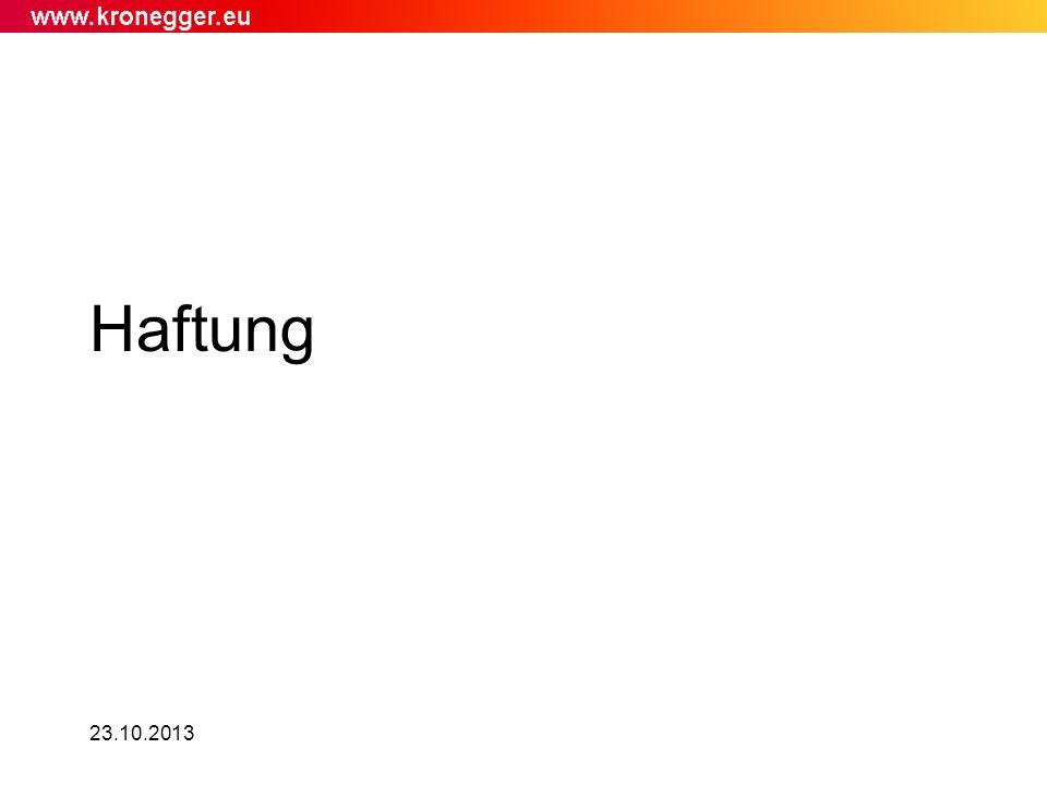 Haftung 23.10.2013