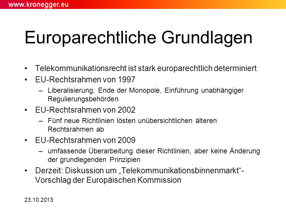 Europarechtliche Grundlagen