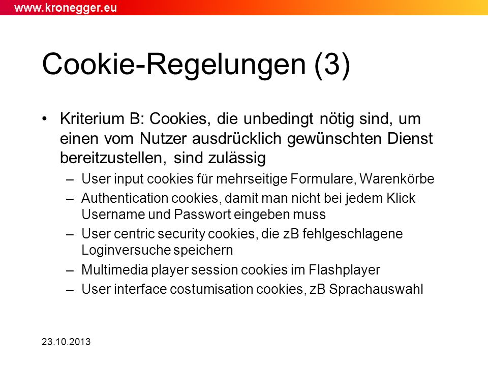 Cookie-Regelungen (3)