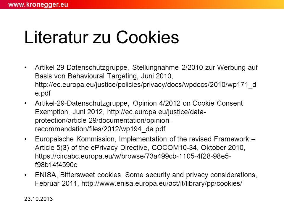 Literatur zu Cookies