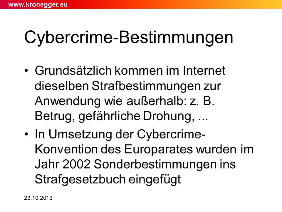 Cybercrime-Bestimmungen
