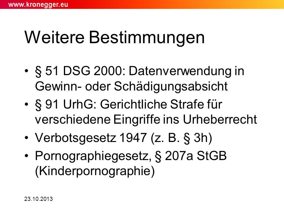Weitere Bestimmungen § 51 DSG 2000: Datenverwendung in Gewinn- oder Schädigungsabsicht.