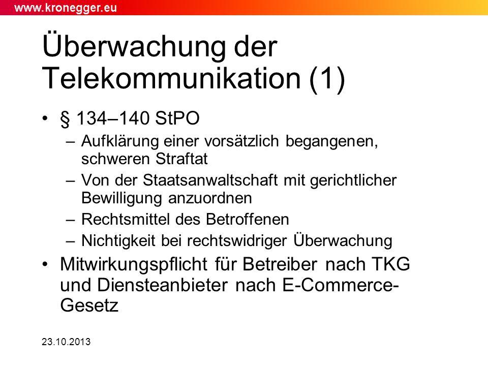 Überwachung der Telekommunikation (1)