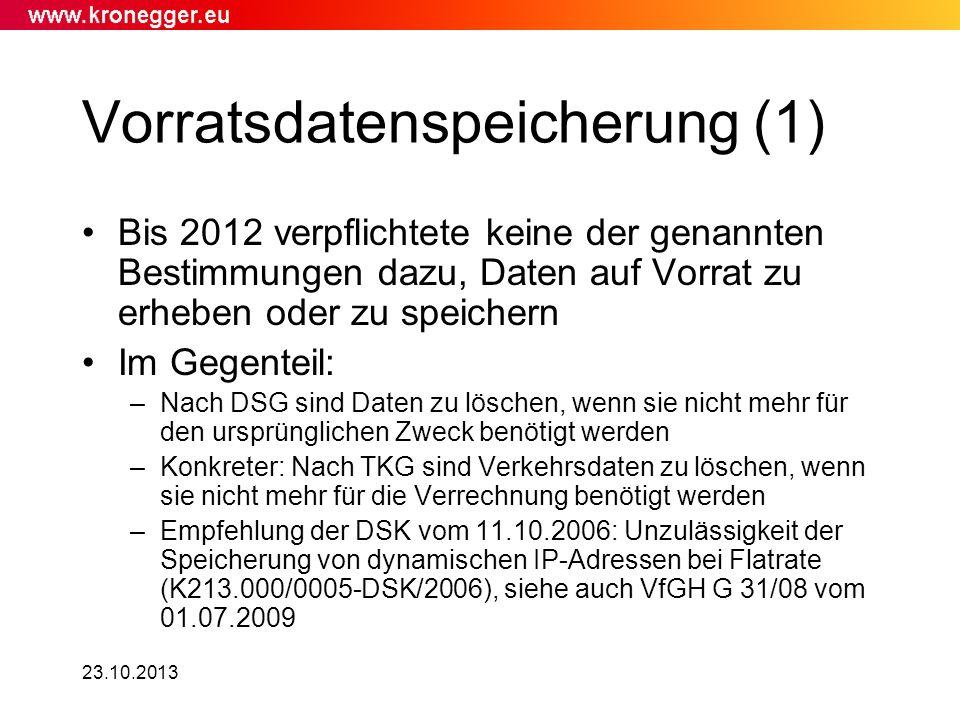 Vorratsdatenspeicherung (1)