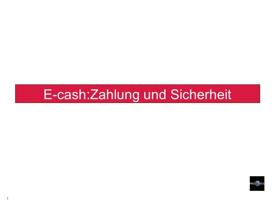 E-cash:Zahlung und Sicherheit