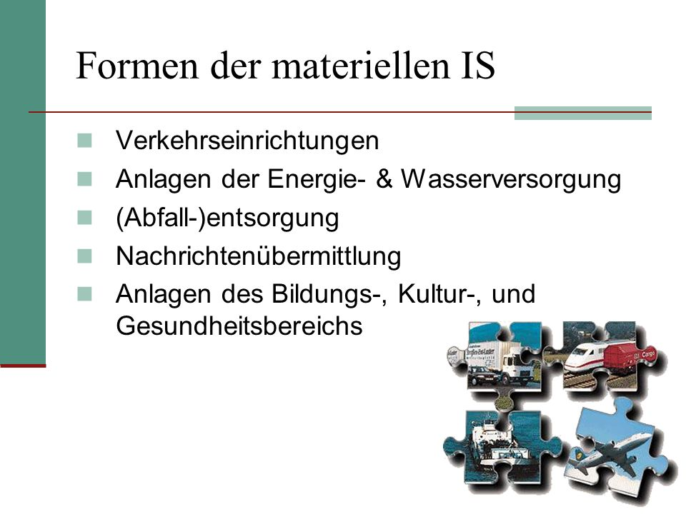 Formen der materiellen IS