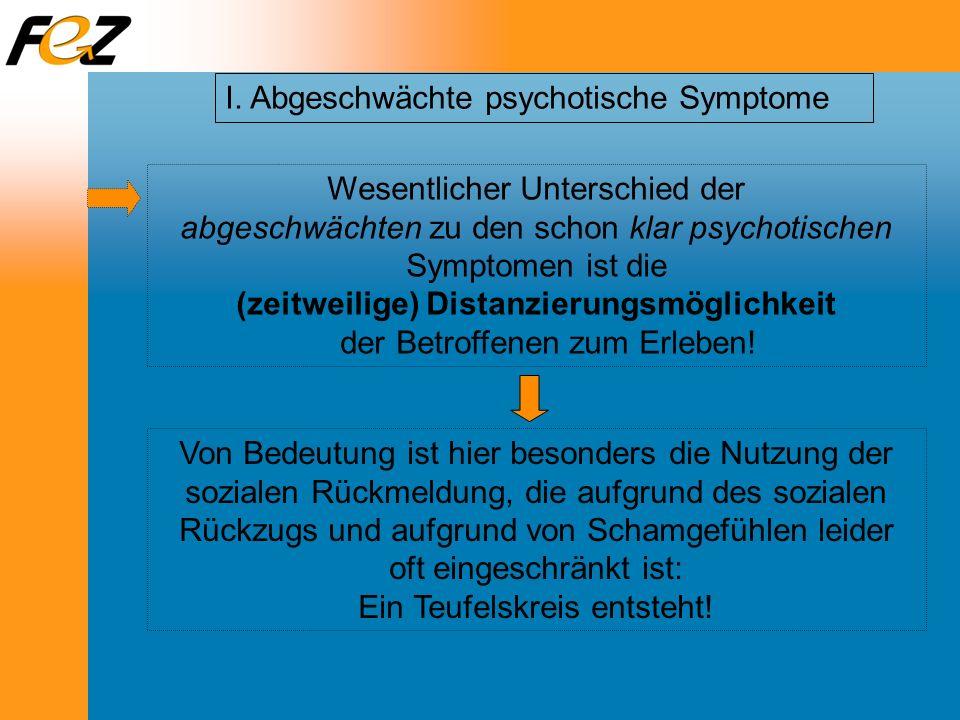 I. Abgeschwächte psychotische Symptome