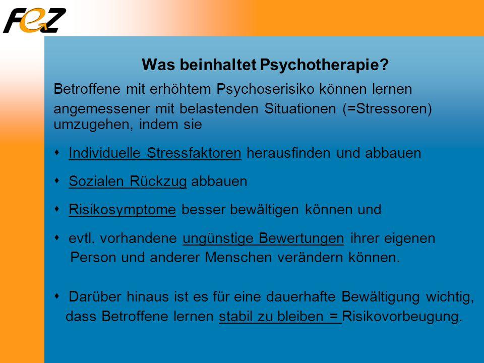Was beinhaltet Psychotherapie