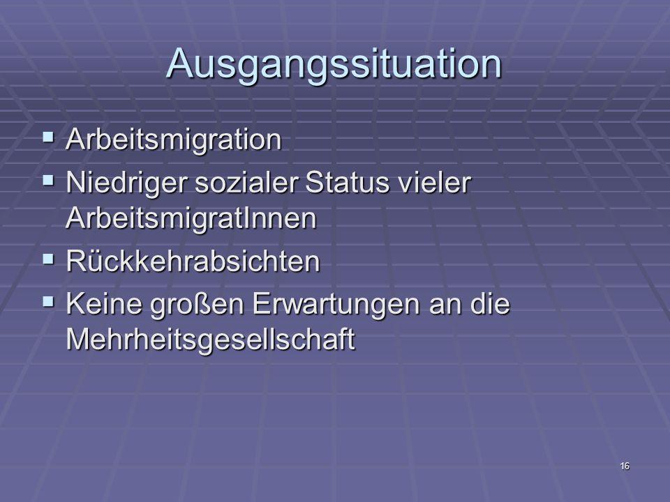 Ausgangssituation Arbeitsmigration