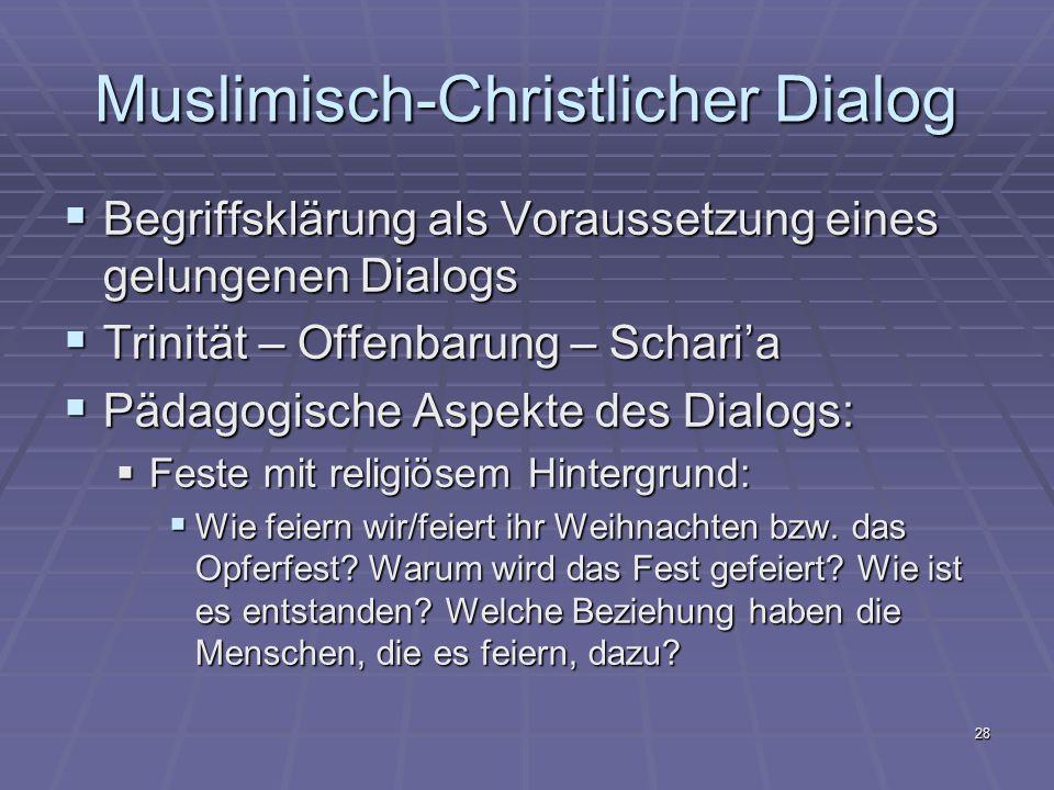 Muslimisch-Christlicher Dialog