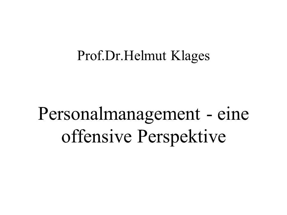 Personalmanagement - eine offensive Perspektive