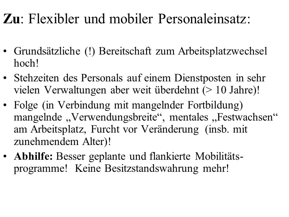 Zu: Flexibler und mobiler Personaleinsatz: