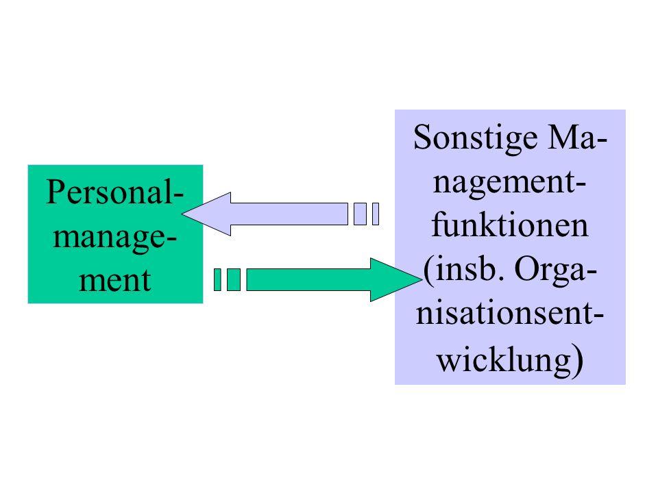 Sonstige Ma-nagement-funktionen (insb. Orga-nisationsent-wicklung)