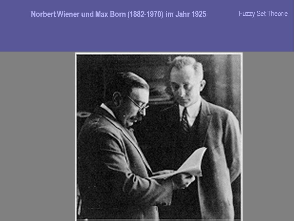 Norbert Wiener und Max Born (1882-1970) im Jahr 1925