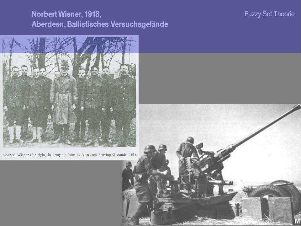 Norbert Wiener, 1918, Aberdeen, Ballistisches Versuchsgelände