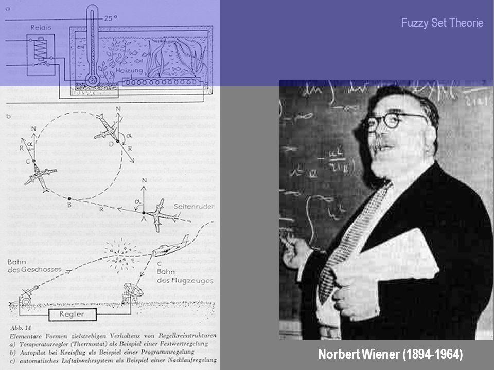Fuzzy Set Theorie Norbert Wiener (1894-1964)