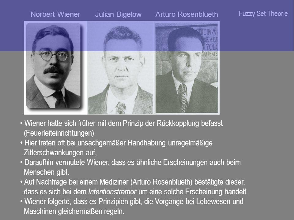 Wiener hatte sich früher mit dem Prinzip der Rückkopplung befasst