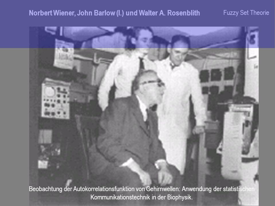Norbert Wiener, John Barlow (l.) und Walter A. Rosenblith