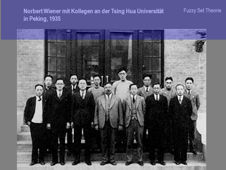 Norbert Wiener mit Kollegen an der Tsing Hua Universität in Peking, 1935