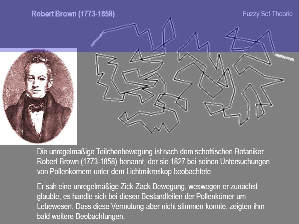 Robert Brown (1773-1858)Fuzzy Set Theorie.