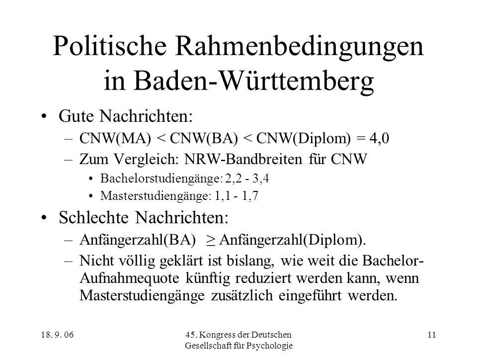 Politische Rahmenbedingungen in Baden-Württemberg