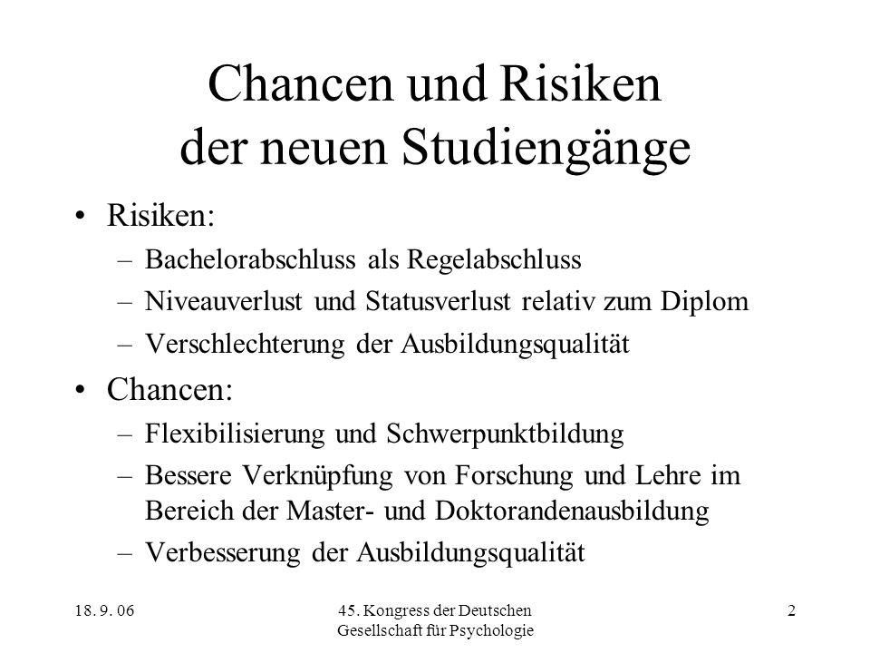 Chancen und Risiken der neuen Studiengänge