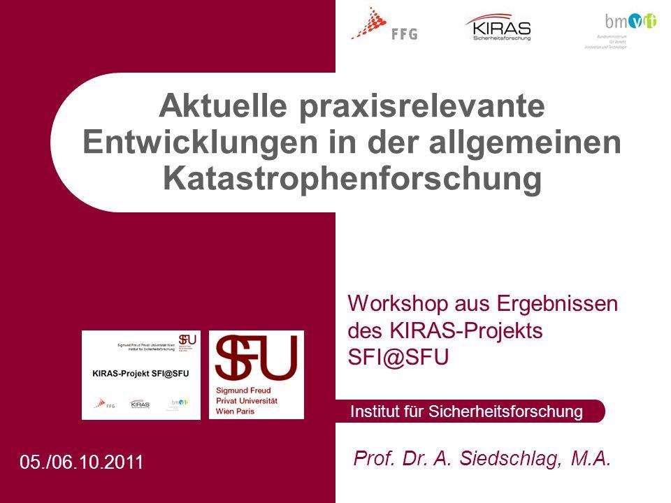 Workshop aus Ergebnissen des KIRAS-Projekts SFI@SFU