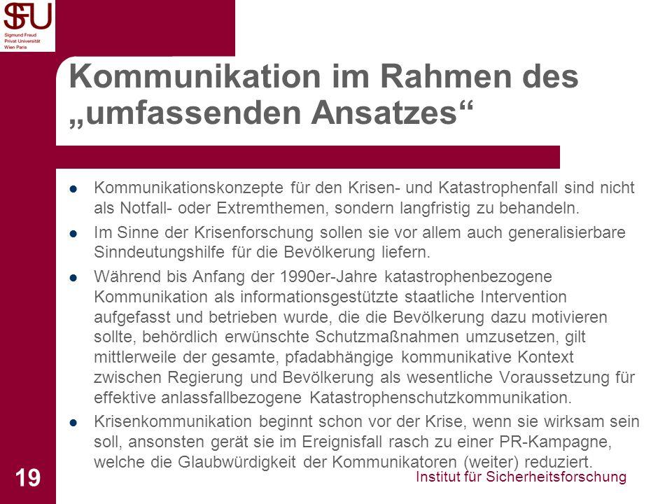 """Kommunikation im Rahmen des """"umfassenden Ansatzes"""