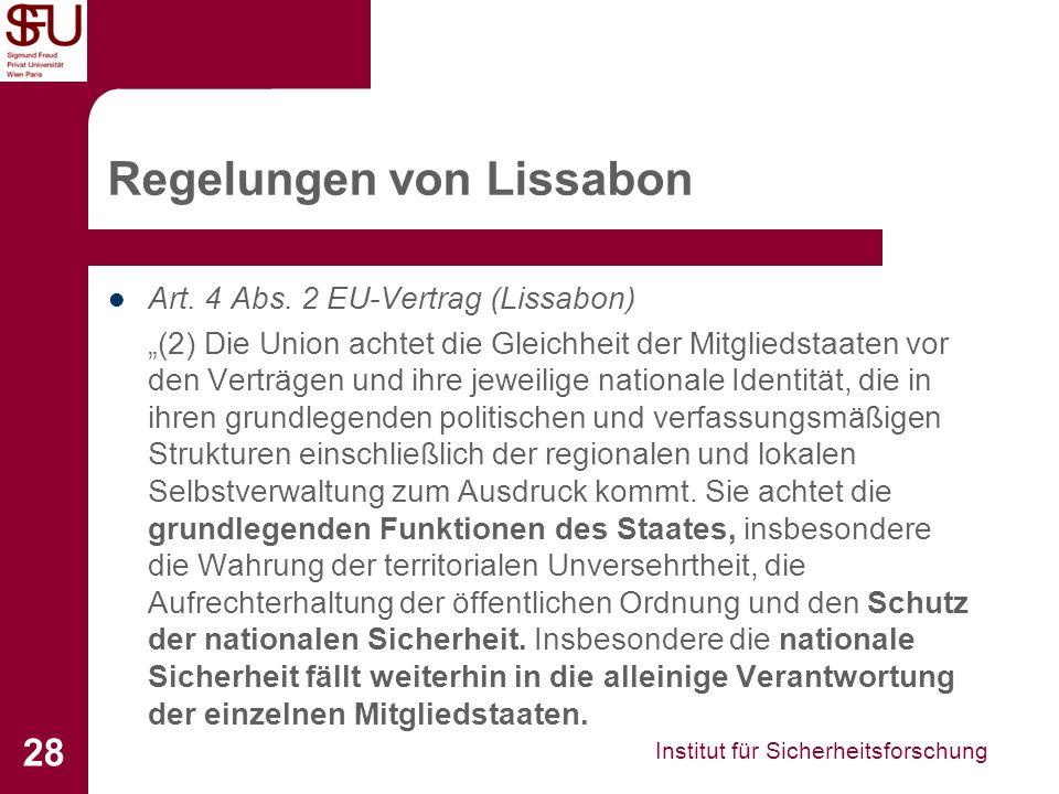 Regelungen von Lissabon