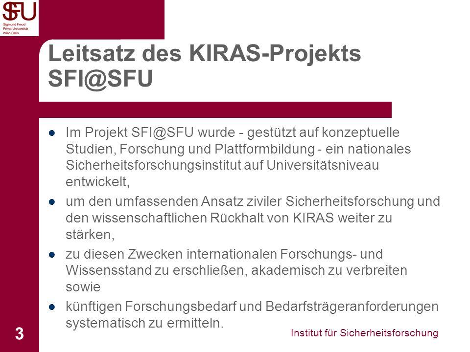 Leitsatz des KIRAS-Projekts SFI@SFU