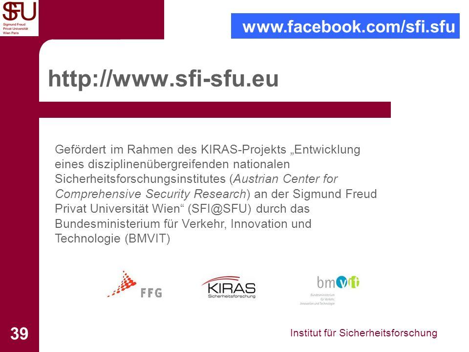 http://www.sfi-sfu.eu www.facebook.com/sfi.sfu