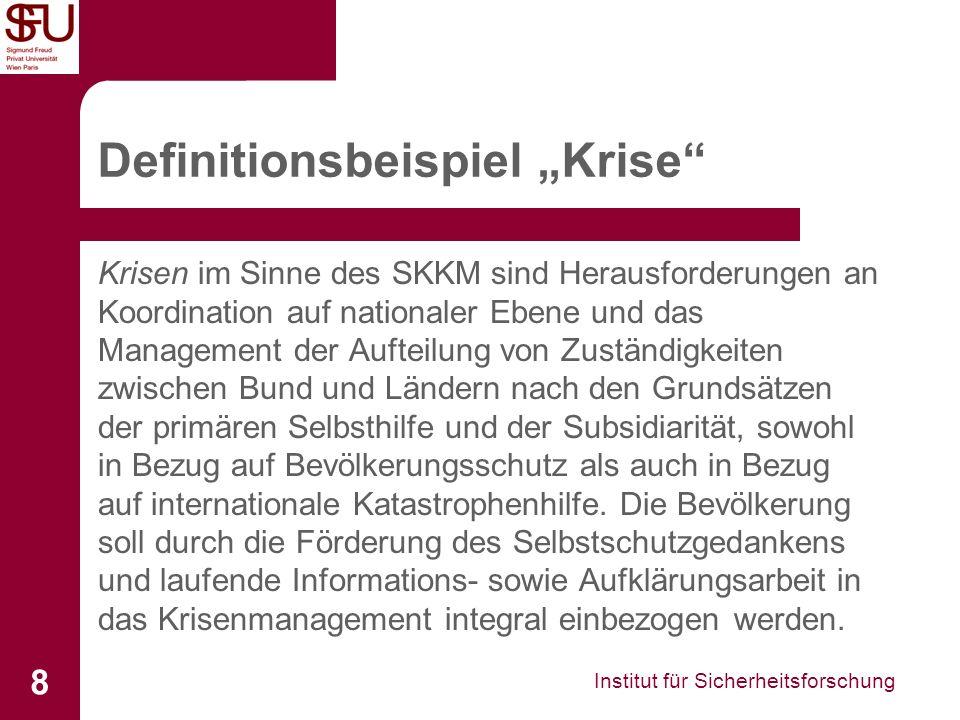"""Definitionsbeispiel """"Krise"""
