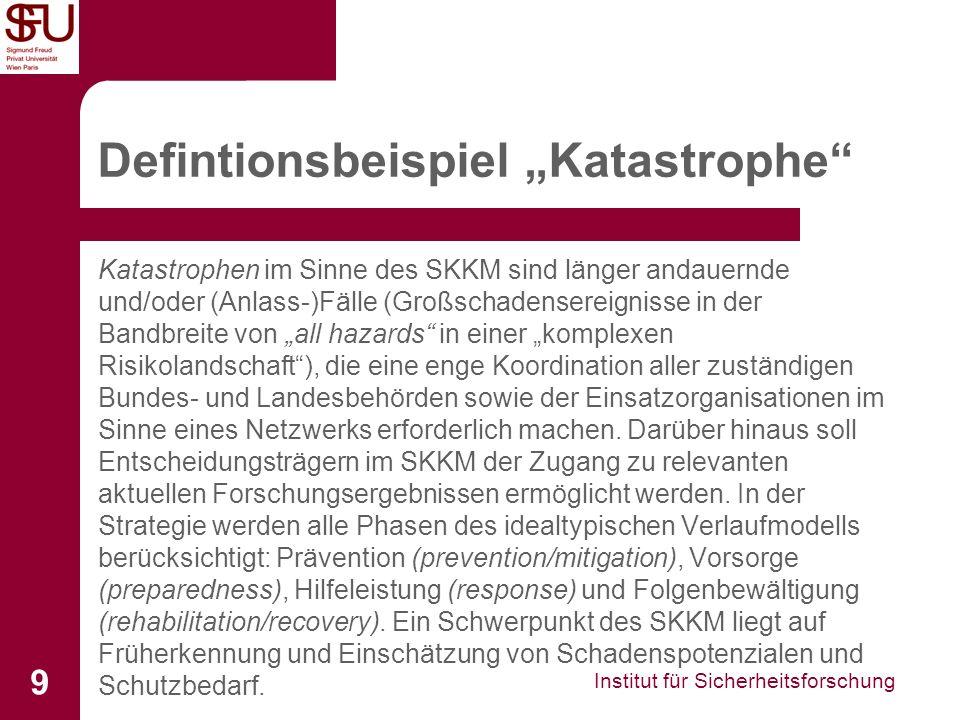 """Defintionsbeispiel """"Katastrophe"""