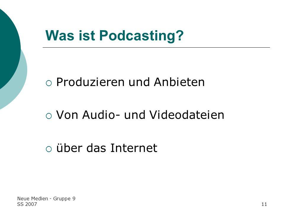 Was ist Podcasting Produzieren und Anbieten