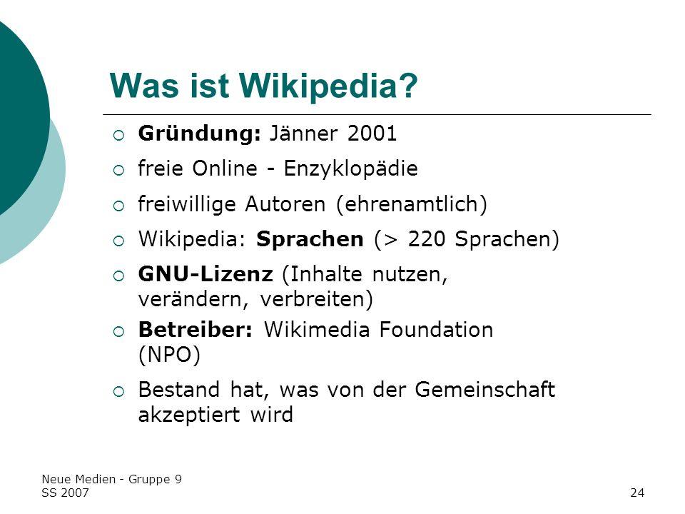 Was ist Wikipedia Gründung: Jänner 2001 freie Online - Enzyklopädie