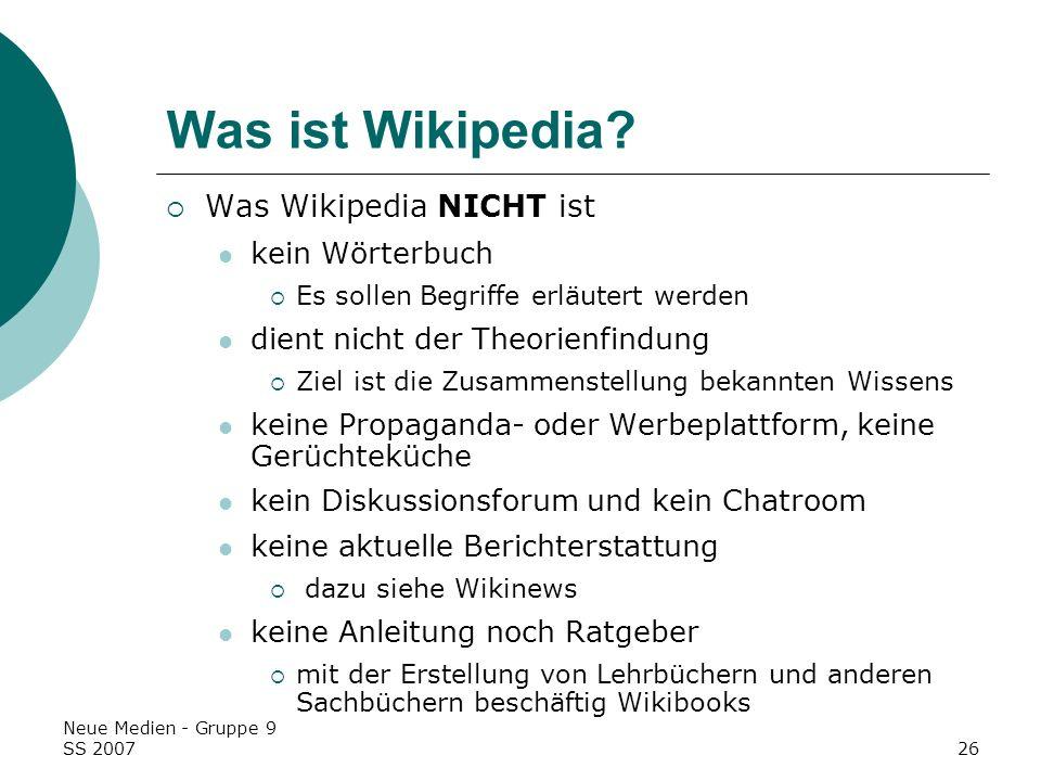 Was ist Wikipedia Was Wikipedia NICHT ist kein Wörterbuch