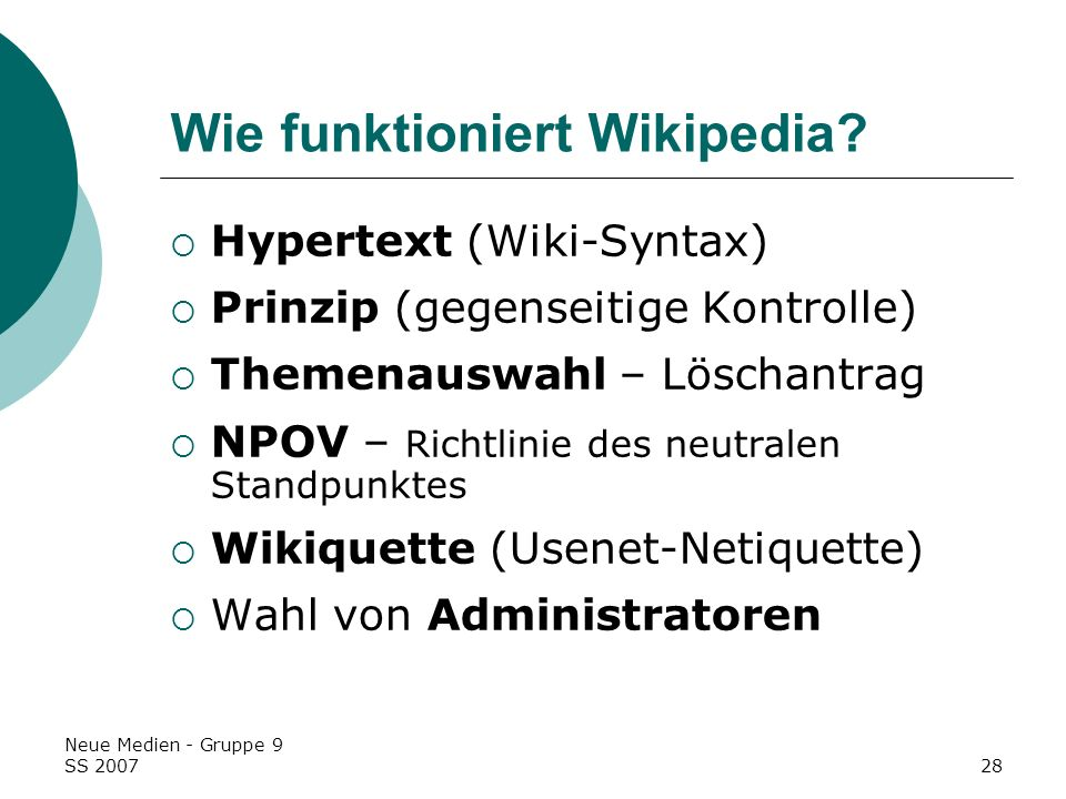 Wie funktioniert Wikipedia