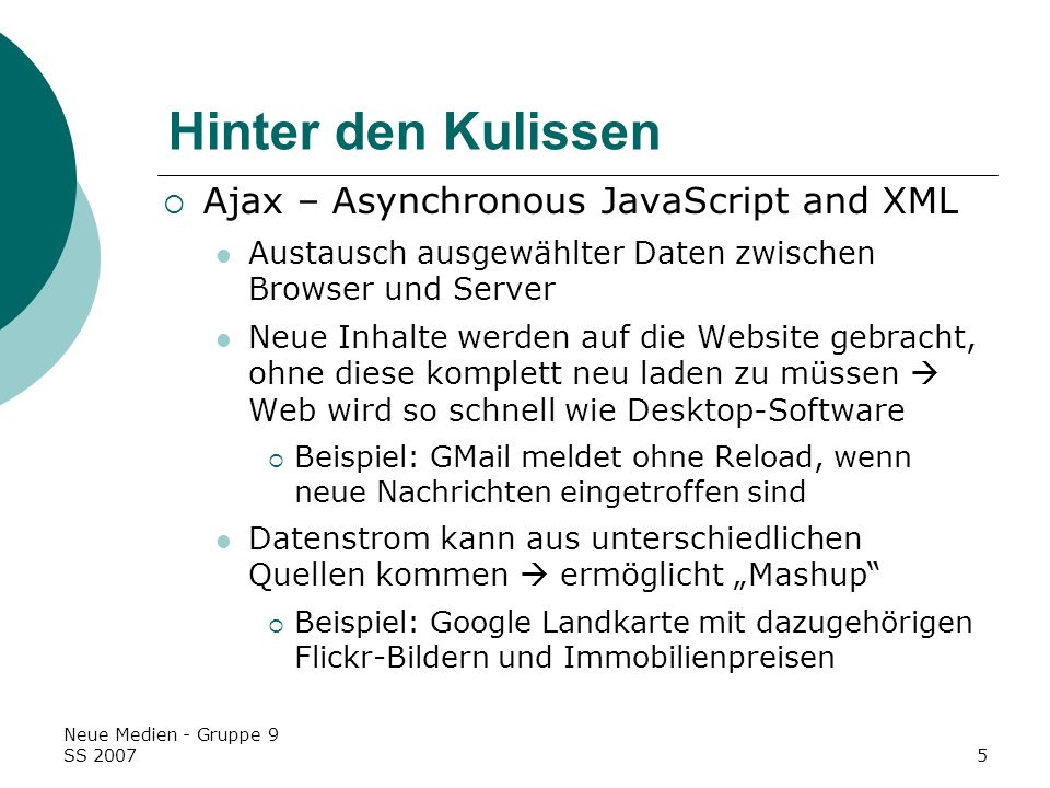 Hinter den Kulissen Ajax – Asynchronous JavaScript and XML