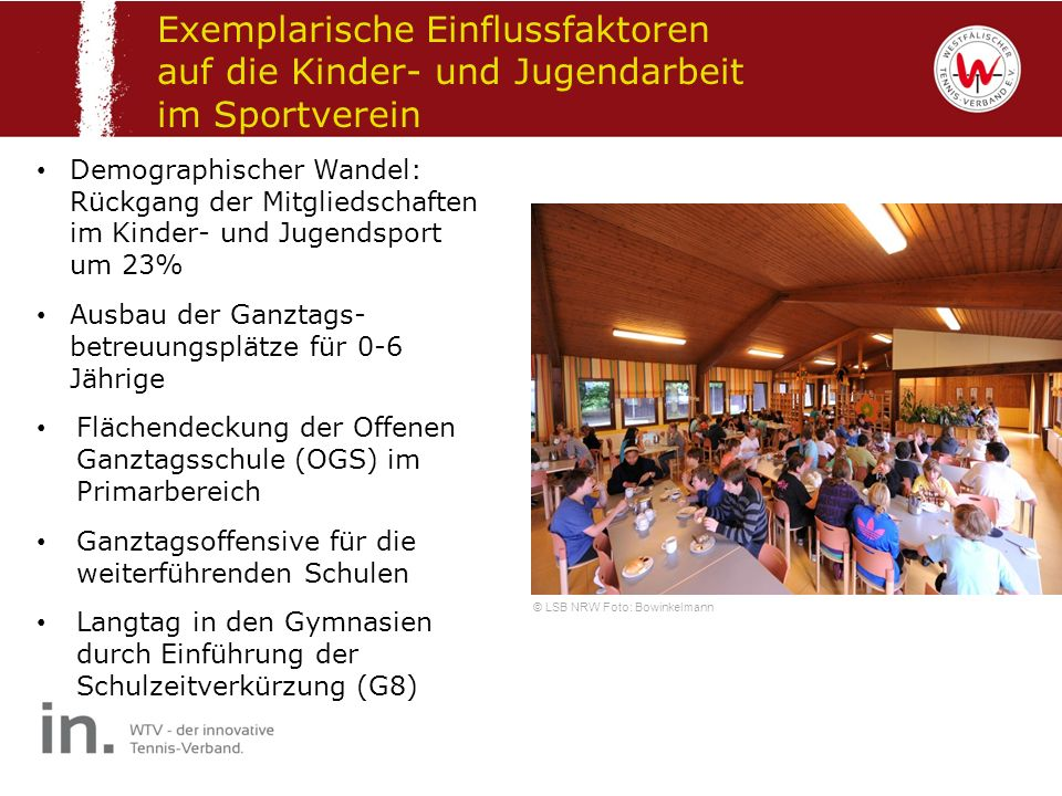 Exemplarische Einflussfaktoren auf die Kinder- und Jugendarbeit im Sportverein