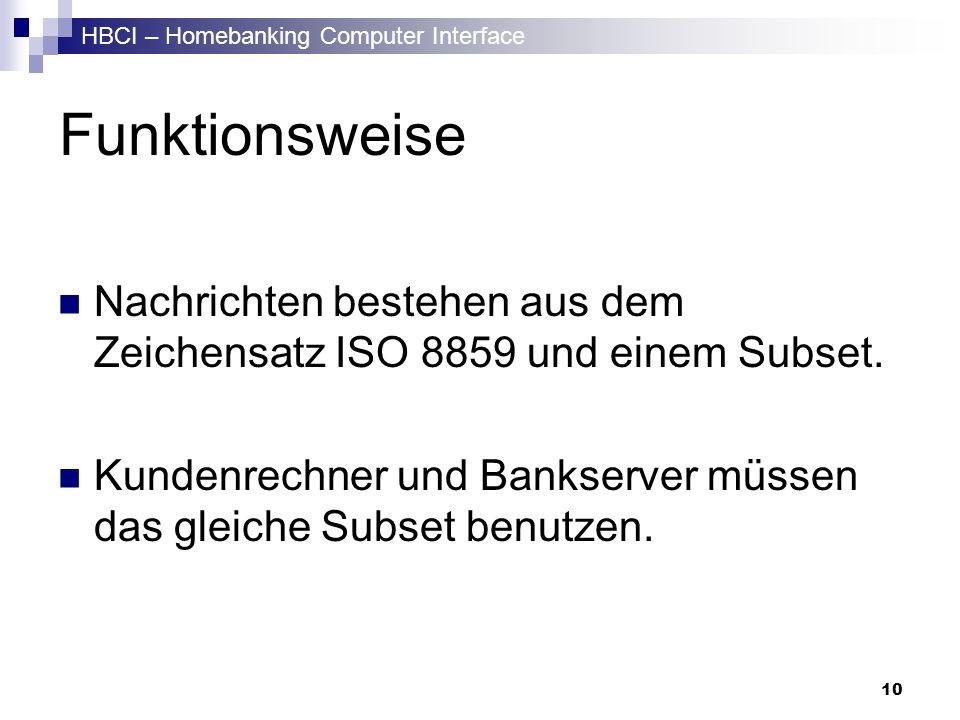 Funktionsweise ISO 8859 ist ein 8-Bit Zeichensatz, dessen erste 7 Bits dem ASCII entsprechen.