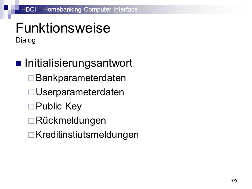 Funktionsweise Dialog